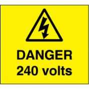 Warn091 - Danger 240 Volts